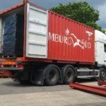 SHIPPING CONTAINER FULLY LOADED LAUNCHES TOWARDS SIERRA LEONE